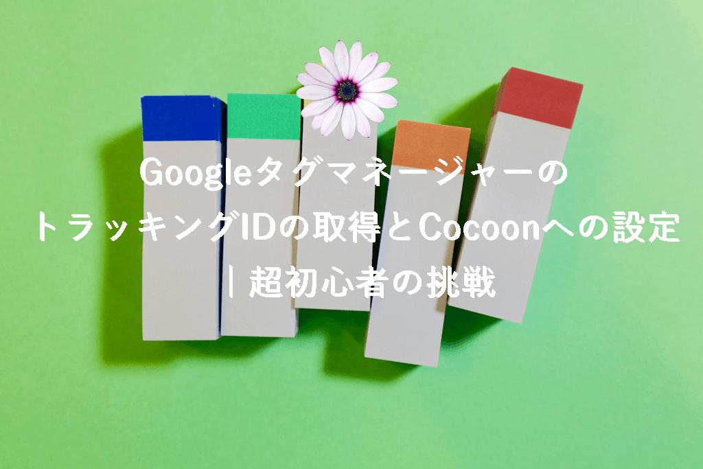 GoogleタグマネージャーのトラッキングIDの取得とCocoonへの設定